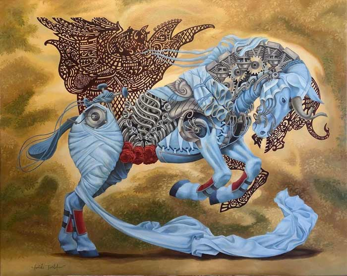 Surrealism painting by Heidi Taillef