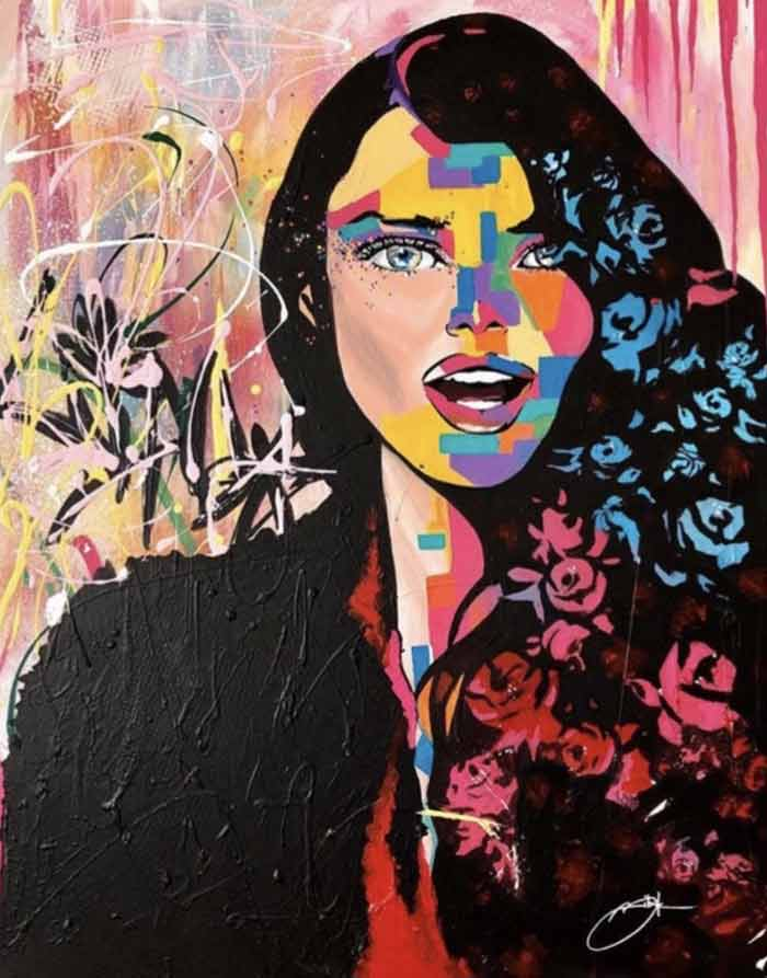 Abstract art and pop art painting by Tetyana Bibik