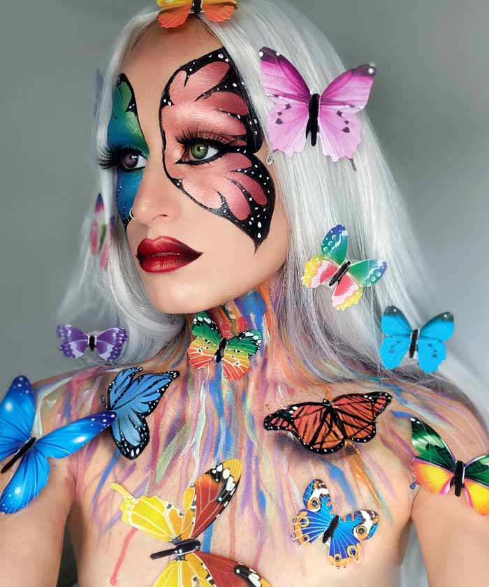 Madame Papillon makeup art tutorial by Emma Riley