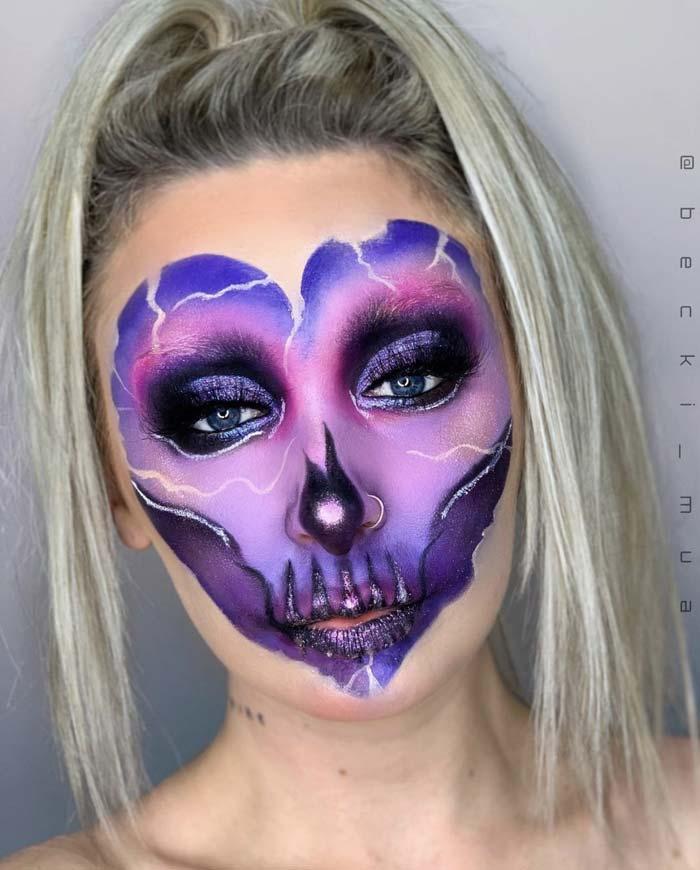 Makeup Artist Transforms Face Into Facechart by judastape