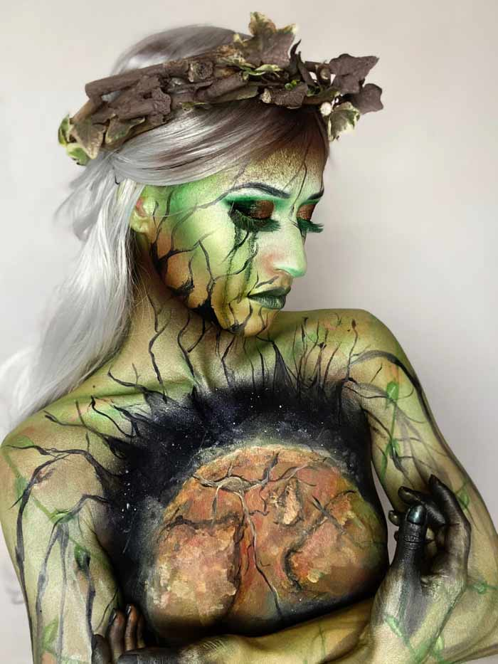 Global Warming makeup ideas by Emma Riley