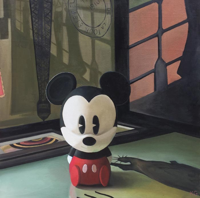 Mouse oil on canvas by Kate Geiger