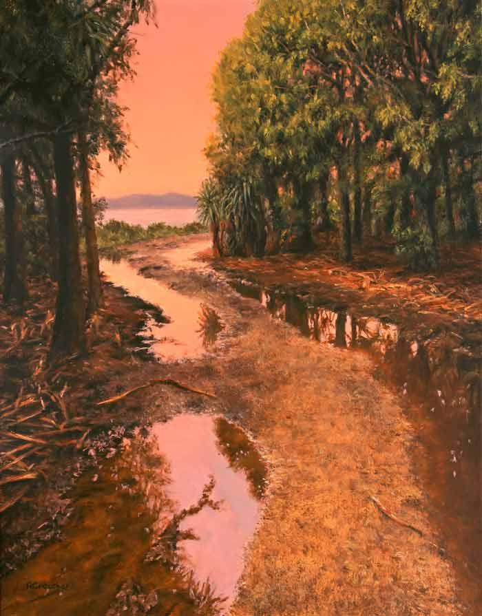 Oil painting landscape images by Rosanne Croucher