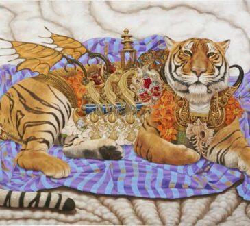 Mythology painting by Heidi Taillef