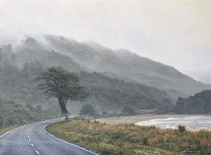 Landscape art painting by Rosanne Croucher