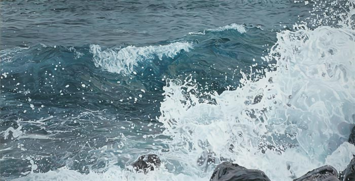 Artist making beautiful waves in the art world
