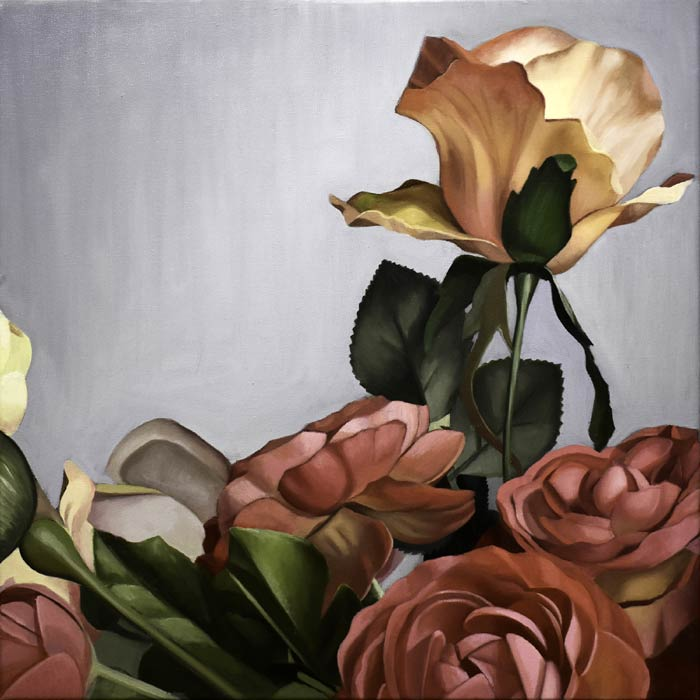 Yellow Rose oil on canvas by Kate Geiger