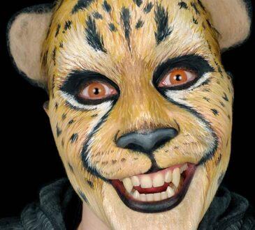 Leopard makeup art by Kim Witte