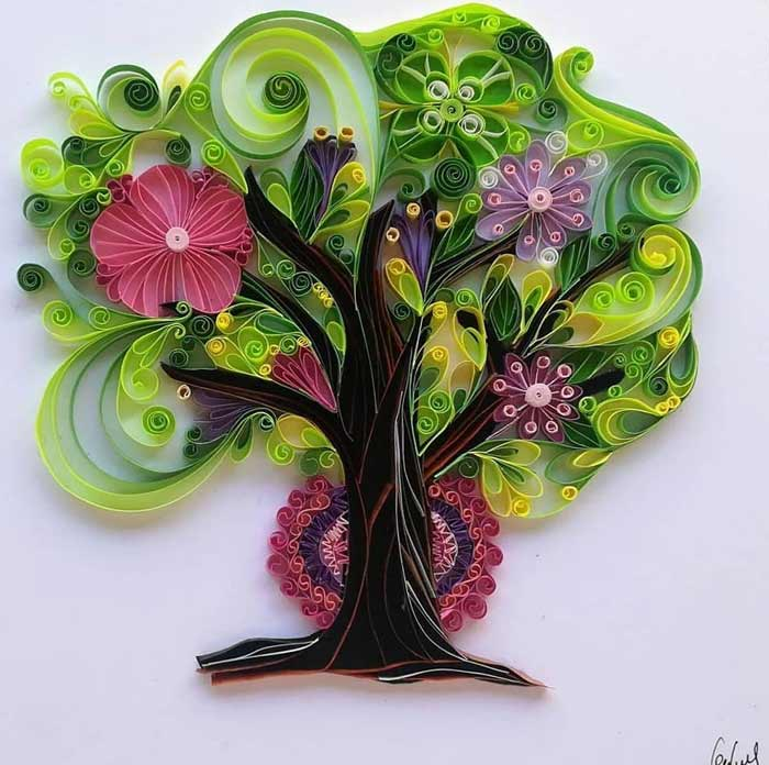 The art of filigree paper quilling by Gemma