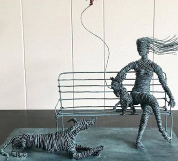 Annie s figurative wire sculptures