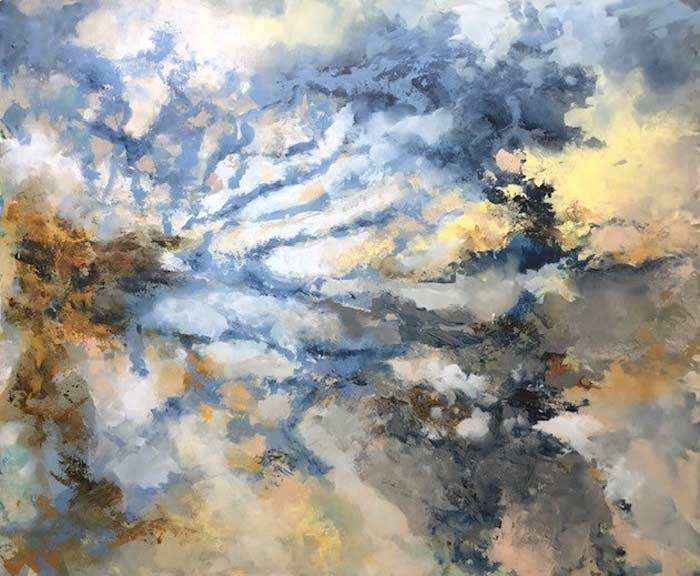 Beautiful abstract painting by Miri Baruch