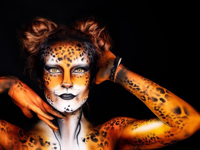 Bodypaint cheetah by Ana Chapovalov