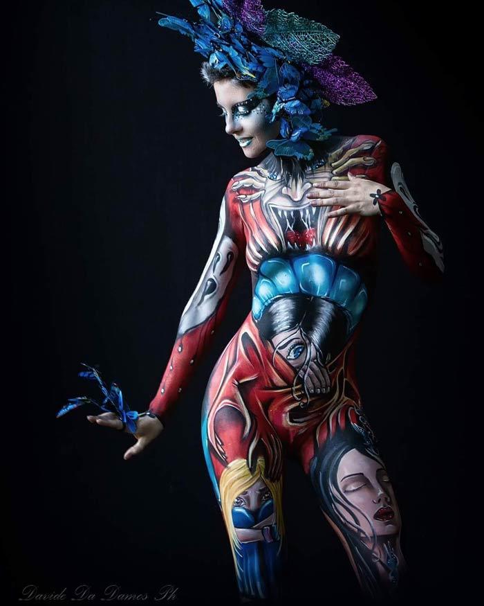 full body painting by Ana Chapovalov