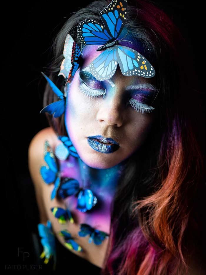 Butterflies body painting art by Ana Chapovalov