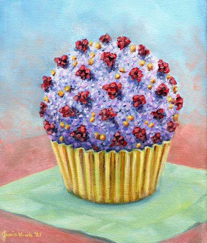 Cupcake Party Treats Oil painting by Jessie Novik