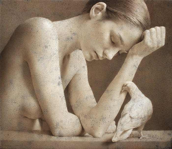 Hyper-realistic Figurative art by Michal Lukasiewicz