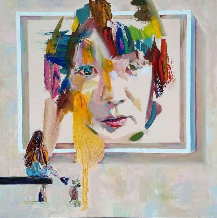 Oil Portrait art by Geoff Farnsworth