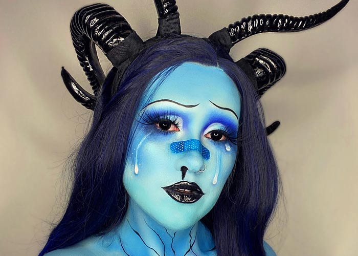 Different style makeup look by sfx artist Hev