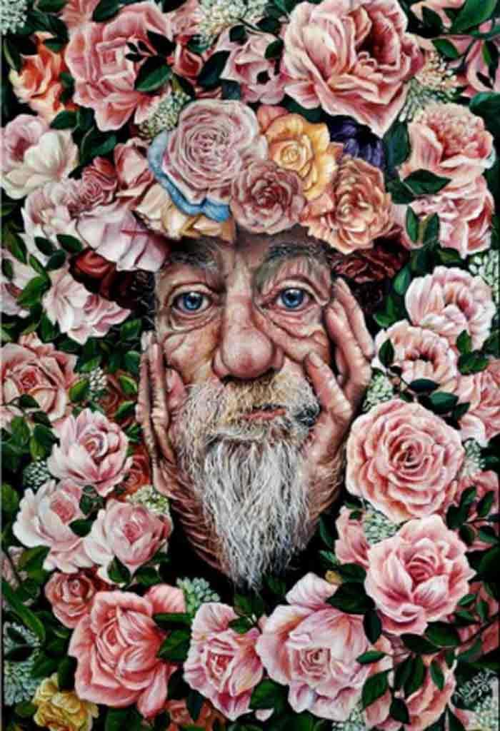 Old Man portrait by Andrea Castaneda