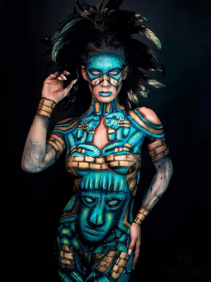 God Of Wine body painting art by Ana Chapovalov