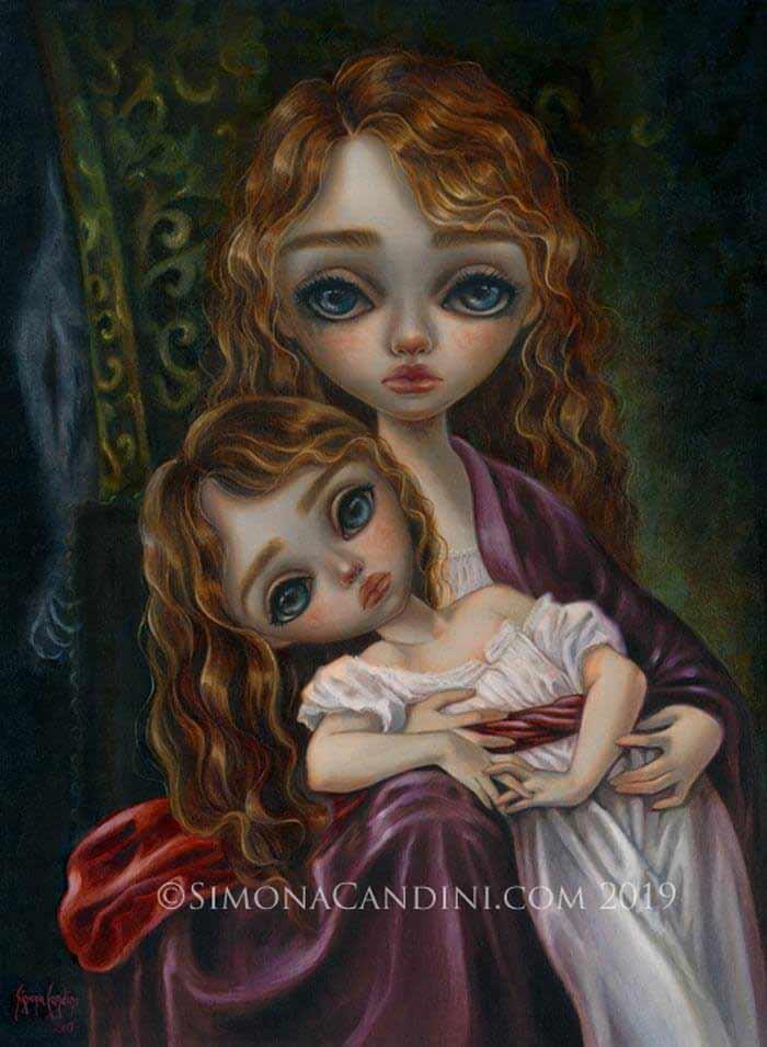 Cute big eye doll by Simona Candini