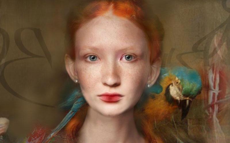 Portrait painting by Christine Fokkelman
