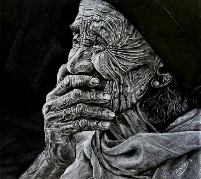 Old age portrait by Andrea Castaneda