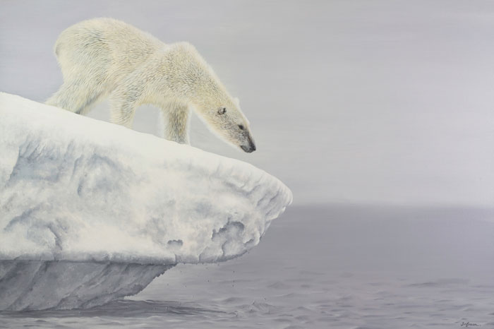 Polar Bear painting by Sophie Green