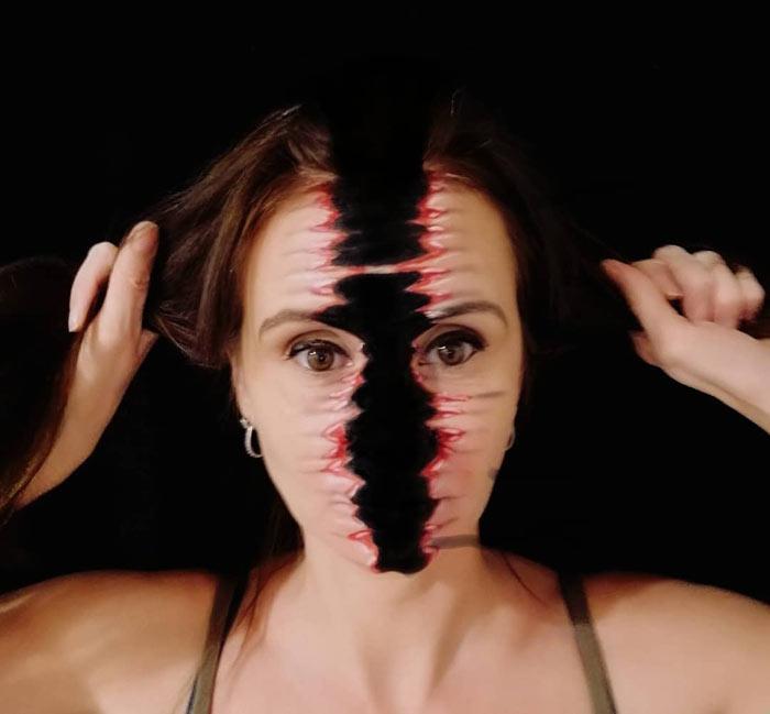 Ripped makeup look by Emma Van-De-Peer