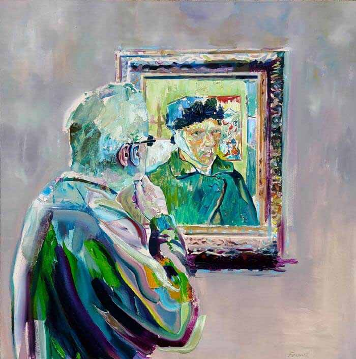 Geoff Oil Painted Portraits of People