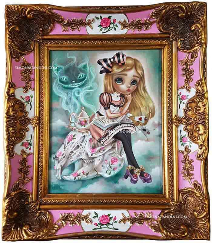 big eye girl doll art by Simona Candini