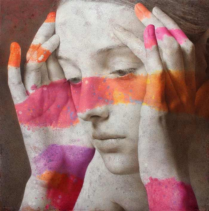 colorful figurative painting by Michal Lukasiewicz
