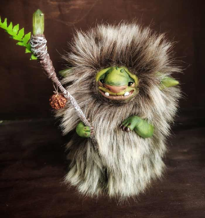 Creepy cute fantasy creature by cha-shcha