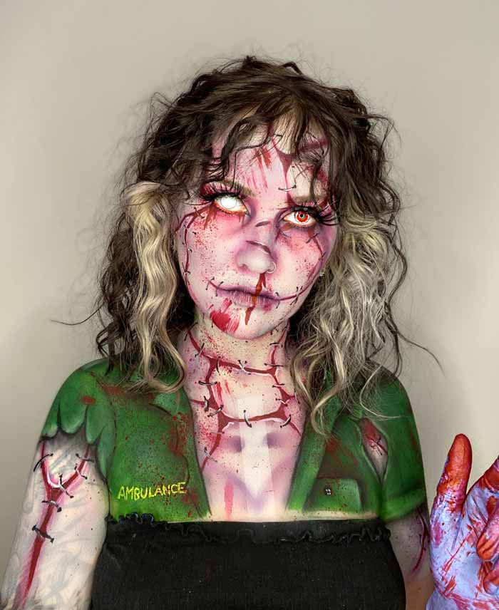 Scary makeup looks by makeup artist Hev