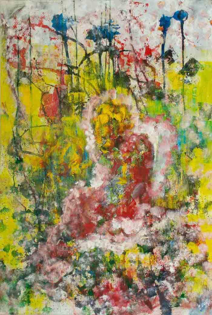 Abstract figure Oil painting by Svitlana Sherstiuk