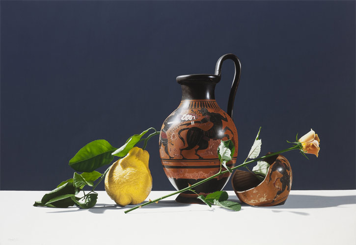Still life paintings by Riccardo Evangelisti
