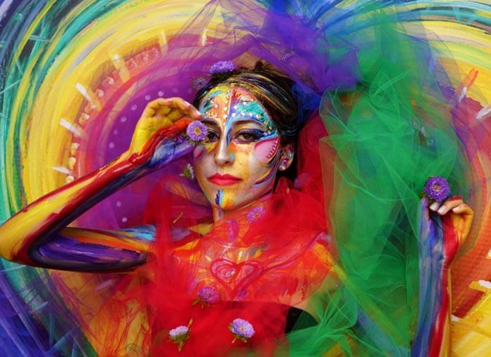 Body Art Rainbow Love by Sheryl Benjy