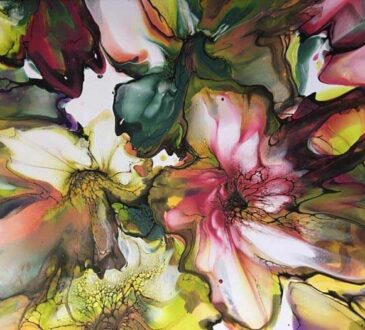 Fluid painting ideas by Lesley Nilsson