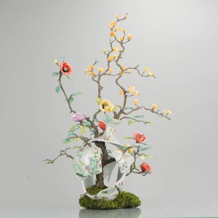 Wild roses sculpture by Patrick Bergsma