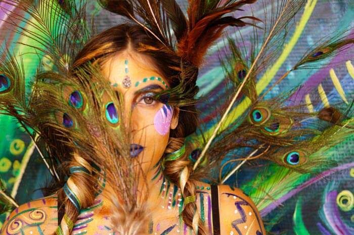 Body Art Soul and the peacock by Sheryl Benjy