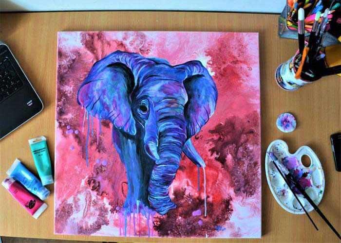 elephant painting by Marianna