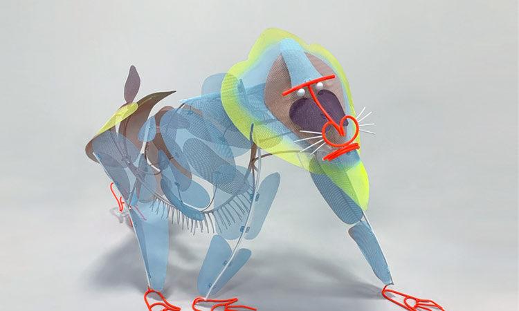 Metal Mesh Sculpture by Federico Cosmi