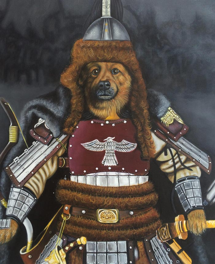 Genghis Khan Canine Oil painting by Colm