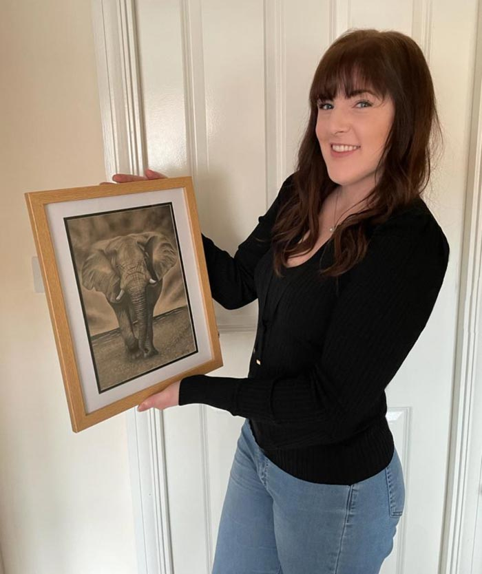 Pet and Wildlife Drawing by Artist Hannah