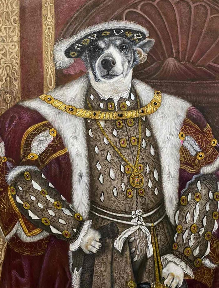 Live the Canine King oil on canvas by Colm