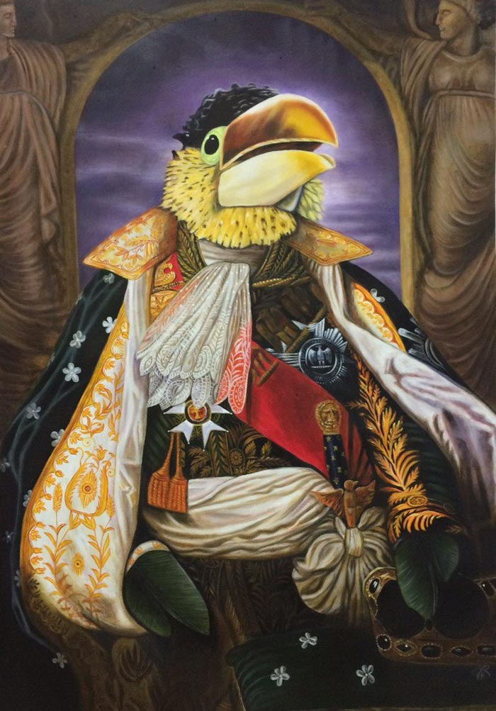 Lord Squawk oil painting by Colm