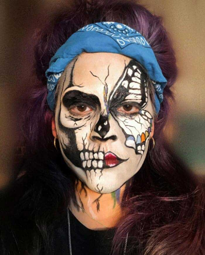 Different face painting by MUD artist Polly