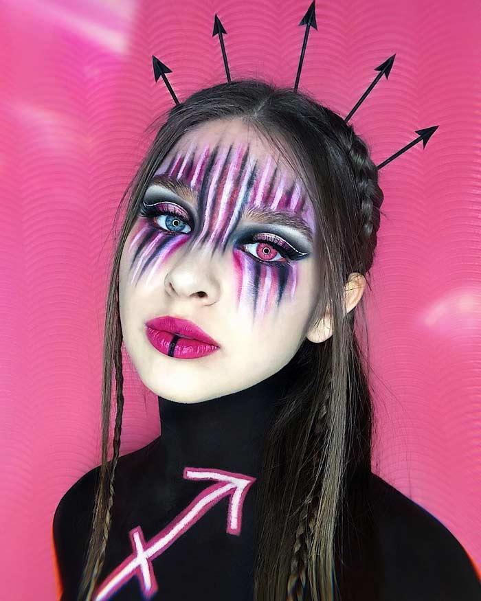 Sagittarius makeup looks by Natalia