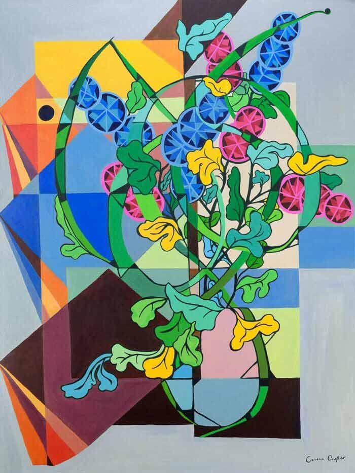 Shelf abstract art by Corrina Cooper