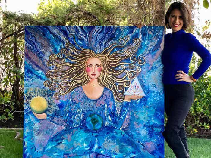Goddess of the Universe painting